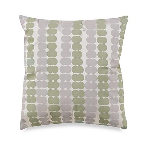 White Square Throw Pillows : KAS White Ginko 17-Inch Square Throw Pillow - Bed Bath & Beyond