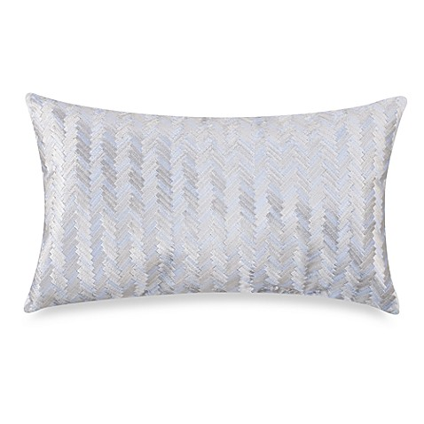 KAS® White Herringbone Breakfast Pillow
