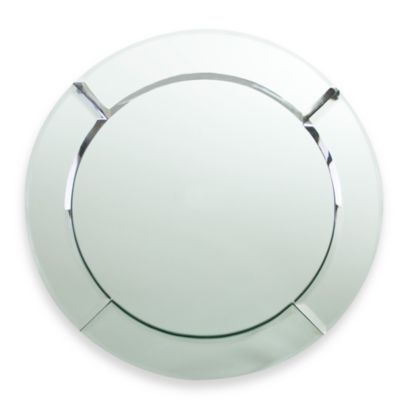 ChargeIt! by Jay Round Mirror 13-Inch Charger in Chloe