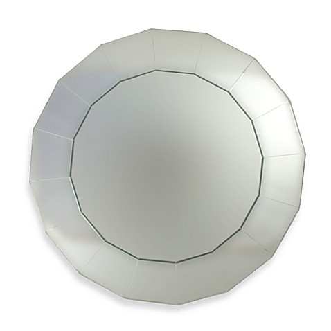 ChargeIt! by Jay Round Mirror 13-Inch Charger in Wellington