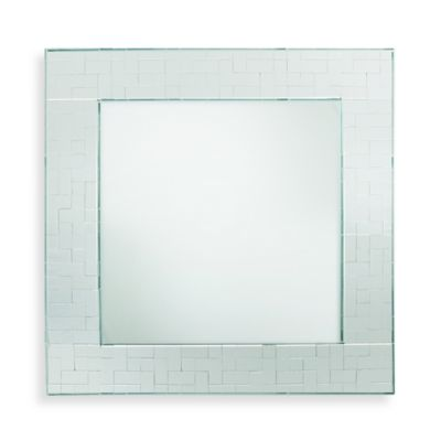 ChargeIt! by Jay Square Mirror 13-Inch Charger in Emerald Mosaic