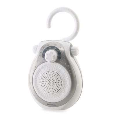 Brookstone® Shower Tunes Water-Resistant AM/FM Radio