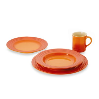 Le Creuset® 4-Piece Place Setting in Flame