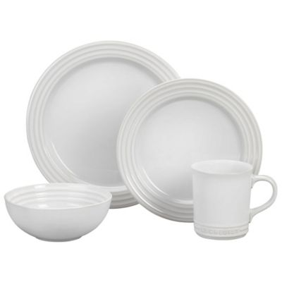 Le Creuset® 4-Piece Place Setting in White