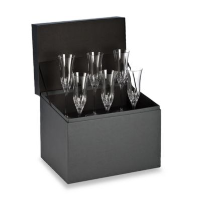 Waterford® Lismore Essence Flute Deluxe Gift Box (Set of 6)
