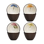 Noritake® Colorwave 4-Inch Floral Mini Bowls in Chocolate (Set of 4)