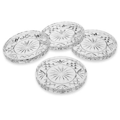 Godinger Dublin Crystal Coasters (Set of 4)