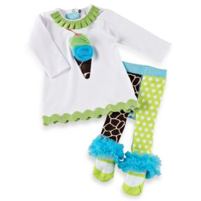 Mud Pie™ Size 2T/3T Giraffe Tunic and Tights Set