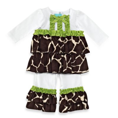Mud Pie® Giraffe Size 12-18M 2-Piece Disco Set