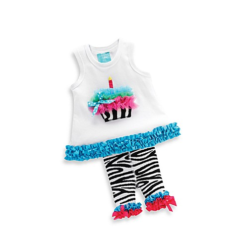 Mud Pie™ Size 12 - 18 Months Tunic and Tights Set in Zebra