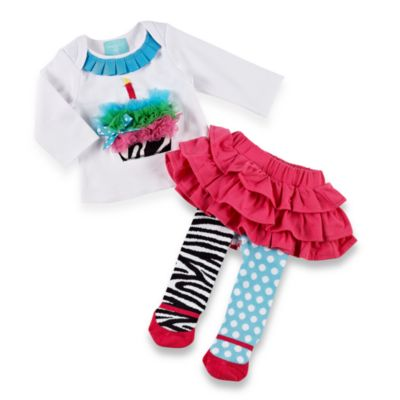 Mud Pie™ Size 2T/3T Zebra Skirt Set