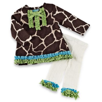 Mud Pie™ Giraffe Long-Sleeve Tunic and Tights Set