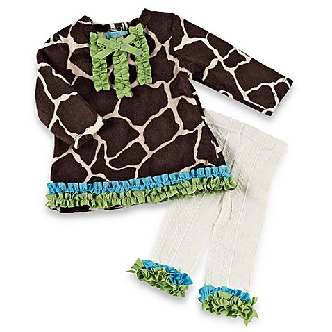 Mud Pie™ Giraffe Size 2T-3T Long-Sleeve Tunic and Tights Set