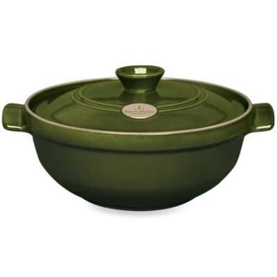 Emile Henry Flame® Top 2.5-Quart Risotto Pot in Olive