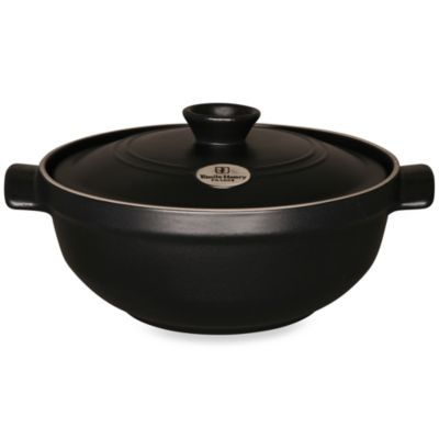 Emile Henry® Flame Top 2.5-Quart Risotto Pot in Black