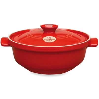 Emile Henry Flame® Top 4.0-Quart Ceramic Risotto Pot in Red