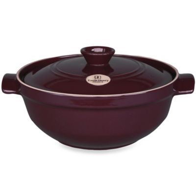 Emile Henry Flame® Top 4.0-Quart Ceramic Risotto Pot in Figue