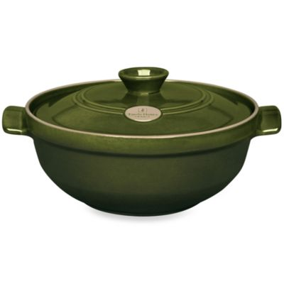 Emile Henry Flame® Top 4.0-Quart Ceramic Risotto Pot in Olive