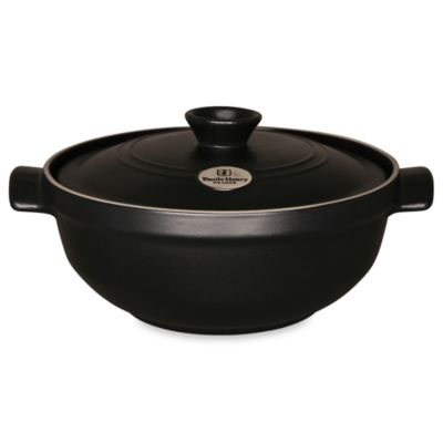 Emile Henry Flame® Top 4.0-Quart Ceramic Risotto Pot in Black