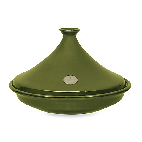 emile henry flame top 3 7 quart ceramic tagine in olive. Black Bedroom Furniture Sets. Home Design Ideas