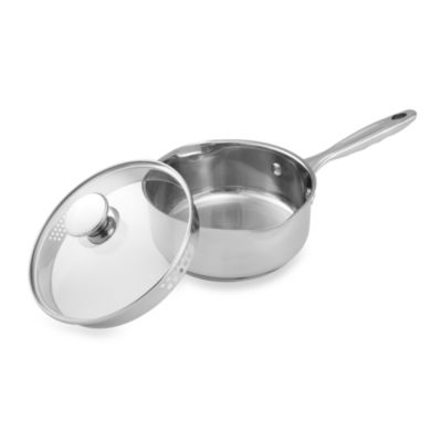 Wolfgang Puck® Stainless Steel 2 Quart Covered Saucepan