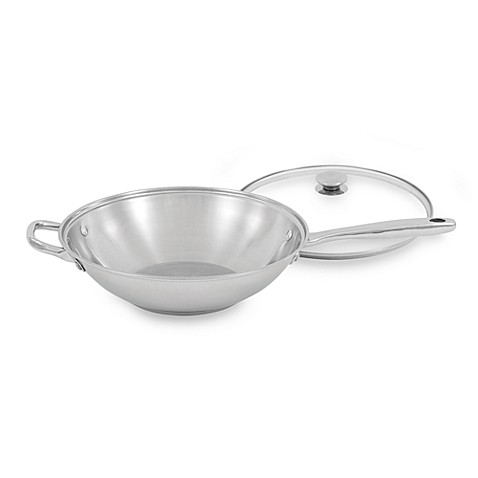 Wolfgang Puck® Stainless Steel 12-Inch Covered Wok