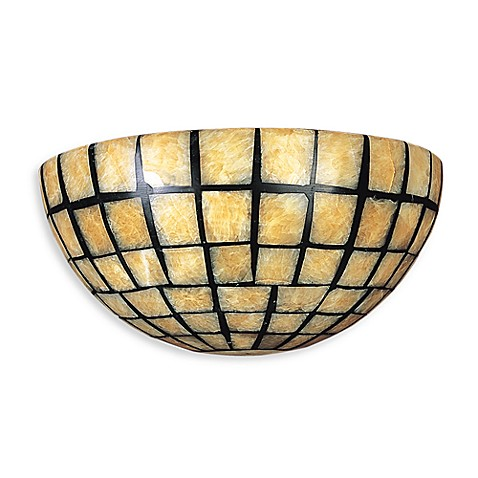Canadian 2 Light Wall Bracket in Dark Antique Brass and Quartz Mosaic Stone
