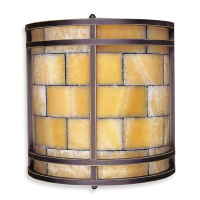 ELK Lighting 2-Light Sconce in Dark Antique Brass And Quartz Mosaic Stone