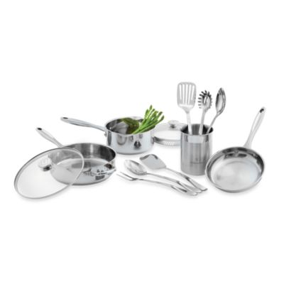 Wolfgang Puck® Stainless Steel 12 Piece Cookware Set