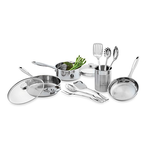 Wolfgang Puck® Stainless Steel 12-Piece Cookware Set and Open Stock