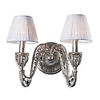 ELK Lighting Sunset Silver 2-Light Wall Bracket Featuring Crystal Accents