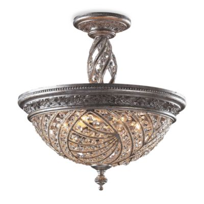 Sunset Silver and Crystal Accents Ceiling Lights