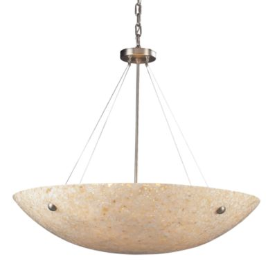 ELK Lighting Stonybrook 8-Light Pendant in Satin Nickel and Pearl Stone
