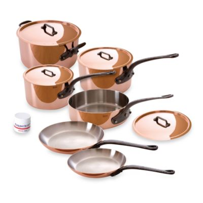 Mauviel M'heritage 150c Copper 10-Piece Cookware Set