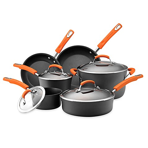 Rachael Ray Hard Anodized 10-Piece Cookware Set and Open Stock