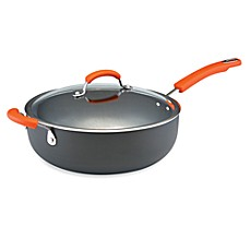 Rachael Ray Hard Anodized 6-Quart Chef's Pan with Helper Handle