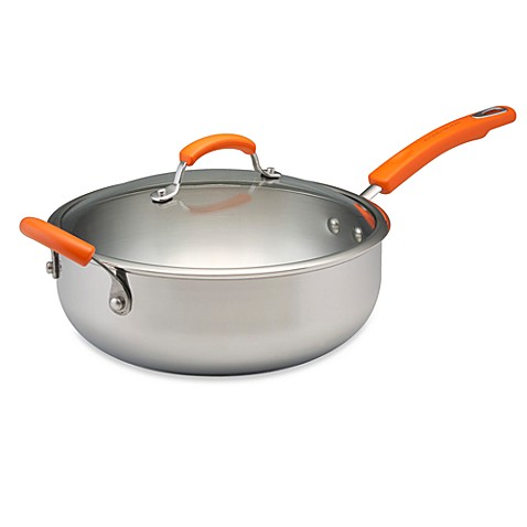 Rachael Ray Stainless Steel 6-Quart Chef's Pan