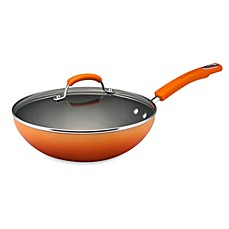 Rachael Ray Hard Enamel 11-Inch Covered Soup Pot - Orange