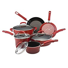 Rachael Ray Hard Enamel Cookware Set and Open Stock - Red