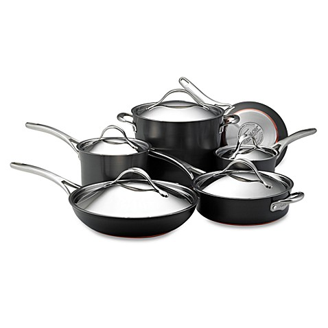 Buy Anolon 174 Advanced Bronze 11 Piece Cookware Set From Bed