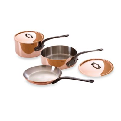 Mauviel M'heritage 150c Copper 5-Piece Cookware Set