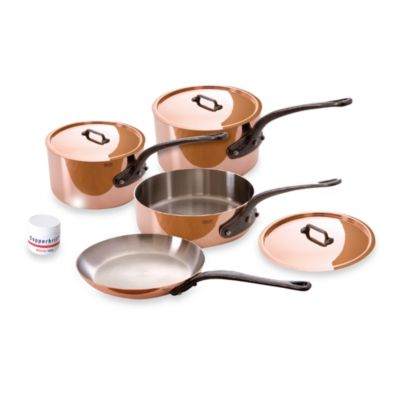 Mauviel M'heritage 150c Copper 7-Piece Cookware Set