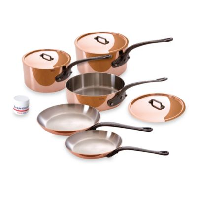 Mauviel 1830 M'heritage 150c Copper 8-Piece Cookware Set