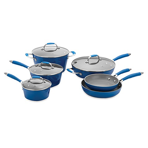 Michelle B by Fagor® 10-Piece Forged Aluminum Cookware Set - Blue