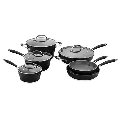 Michelle B by Fagor® 10-Piece Forged Aluminum Cookware Set - Black