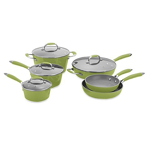 Michelle B by Fagor® 10-Piece Forged Aluminum Cookware Set - Lemon-Lime