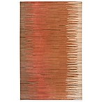 Surya B. Smith Abstract Hand-Tufted Area Rug in Brown/Orange/ Rust/Beige
