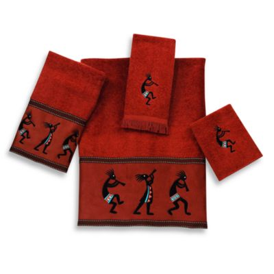 Avanti Kokopelli Washcloth in Copper