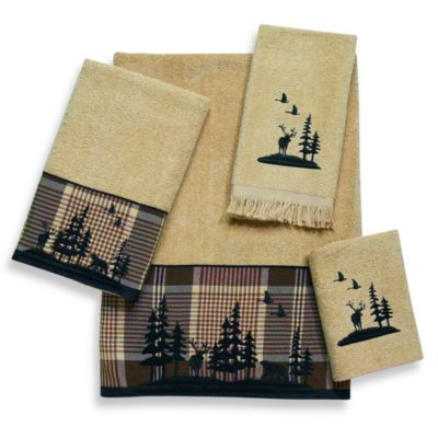 Black Hand Towel and Washcloth