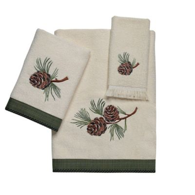 Avanti Pine Creek Ivory Washcloth